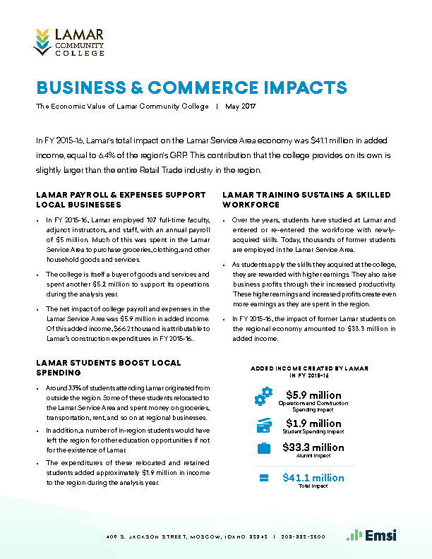 Business & Commerce Impacts (LCC) PDF
