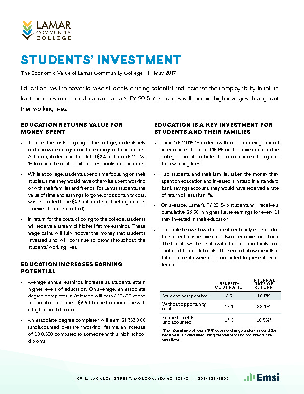 Students' Investment (LCC) PDF