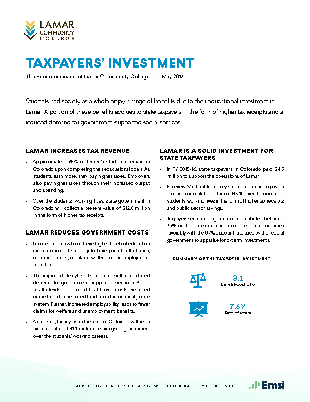 Taxpayers' Investment (LCC) PDF