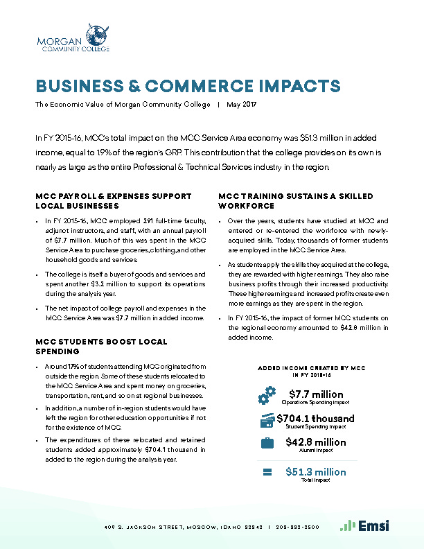 Business & Commerce Impacts (MCC) PDF
