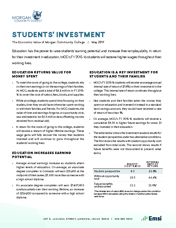 Students' Investment (MCC) PDF