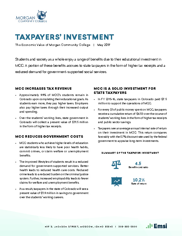 Taxpayers' Investment (MCC) PDF