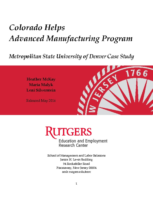 Metropolitan State University-Denver Case Study Final Aug 2016 PDF