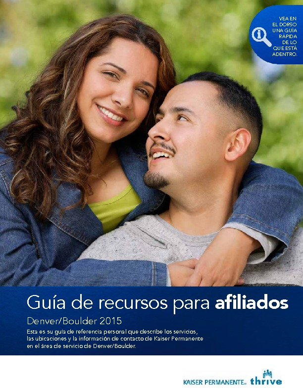 Kaiser Member Resource Guide Denver/Boulder – Spanish PDF