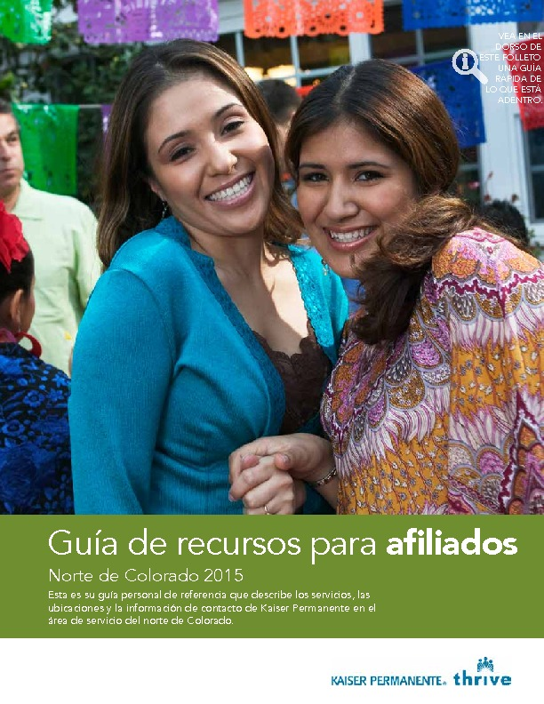 Kaiser Member Resource Guide Northern CO – Spanish PDF