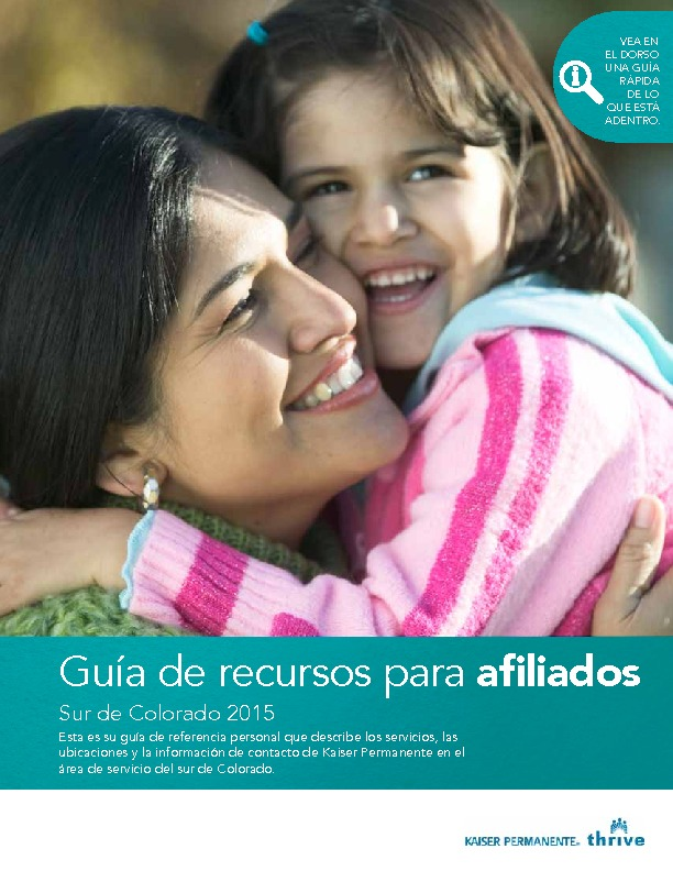 Kaiser Member Resource Guide Southern CO – Spanish PDF