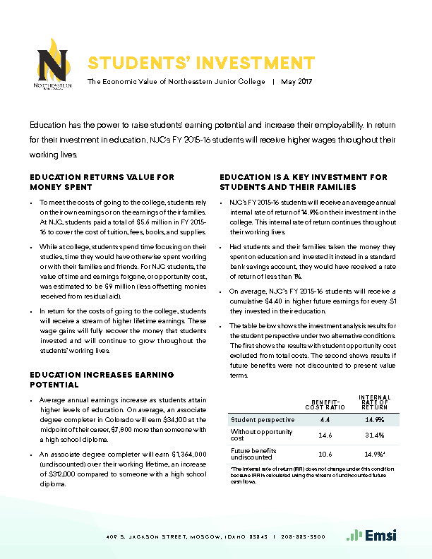 Students' Investment (NJC) PDF