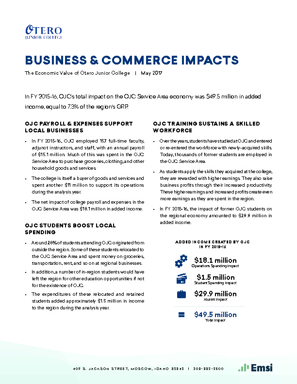 Business & Commerce Impacts (OJC) PDF