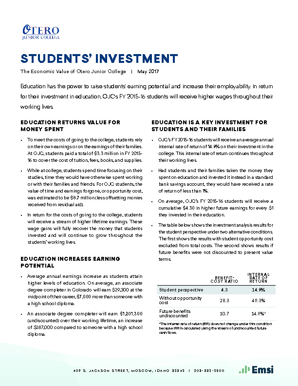 Students' Investment (OJC) PDF