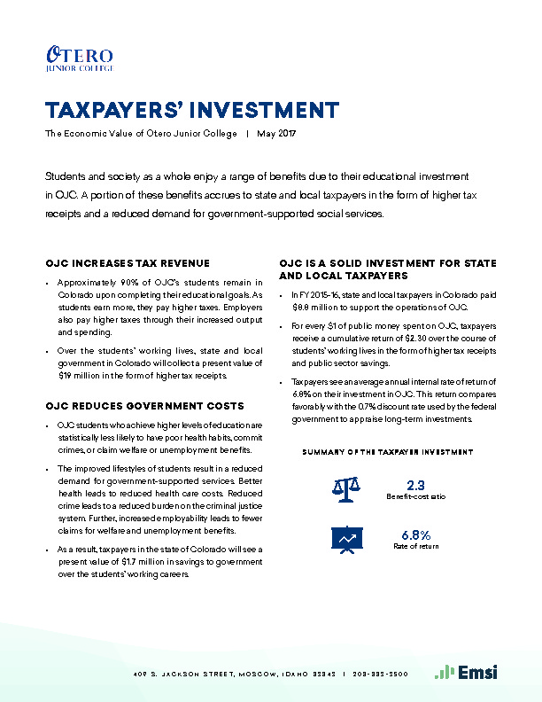 Taxpayers' Investment (OJC) PDF