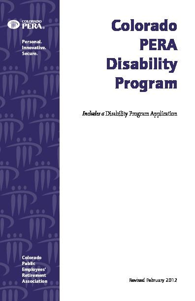 PERA Disability Programs PDF