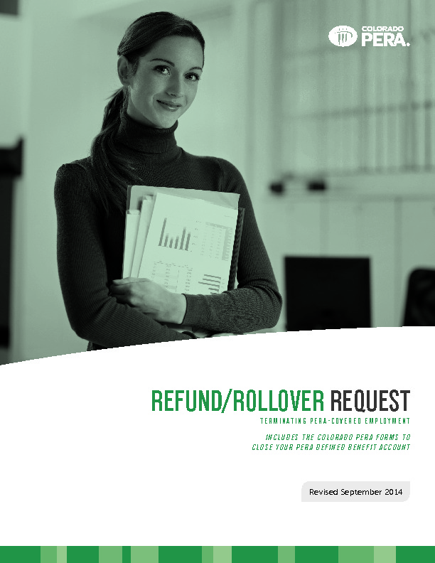 Terminating PERA Covered Employment PDF