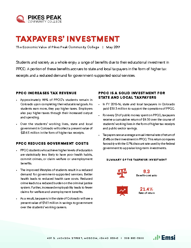 Taxpayers' Investment (PPCC) PDF