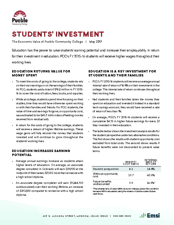 Students' Investment (PCC) PDF