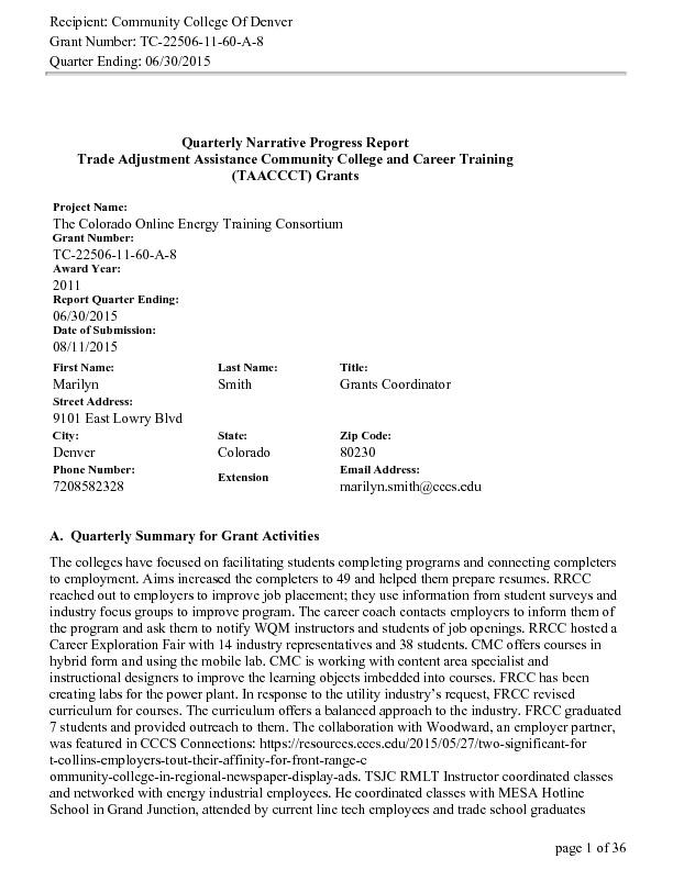 Quarter Ending June 30, 2015 PDF