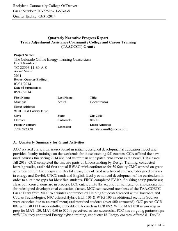 Quarter Ending March 31, 2014 PDF