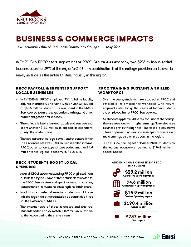 Business & Commerce Impacts (RRCC) PDF