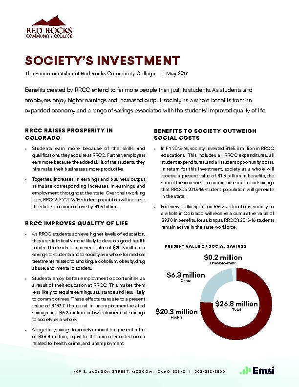 Society's Investment (RRCC) PDF