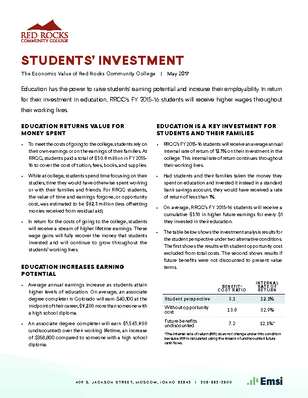 Students' Investment (RRCC) PDF