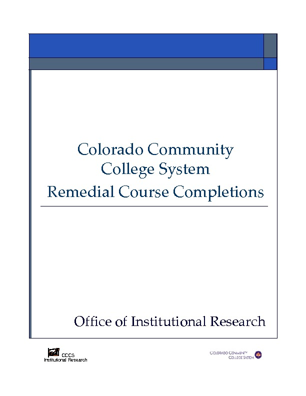 2007-08 Remedial  Course Completions PDF
