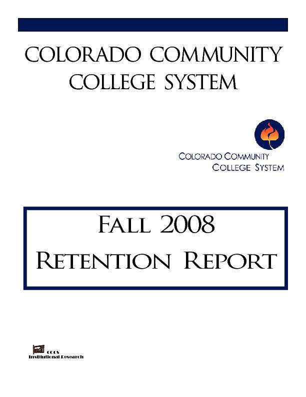 2008 Retention Report PDF