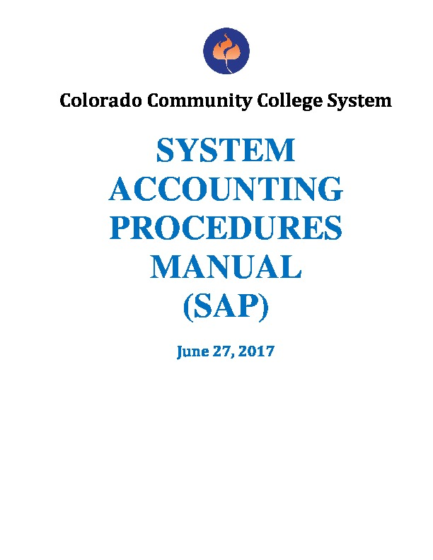 System Accounting Procedures (SAP) Manual PDF