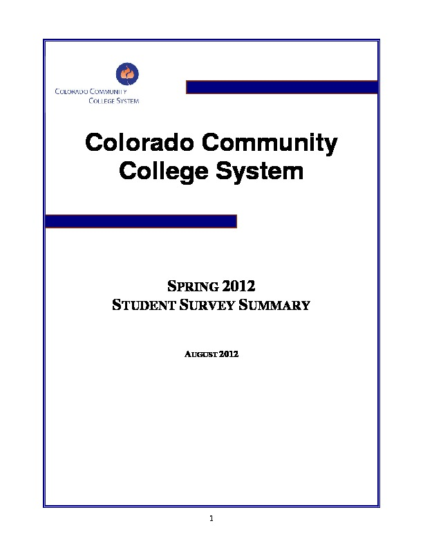 2012 Student Survey Report PDF