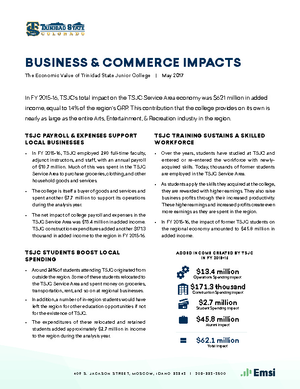 Business & Commerce Impacts (TSJC) PDF