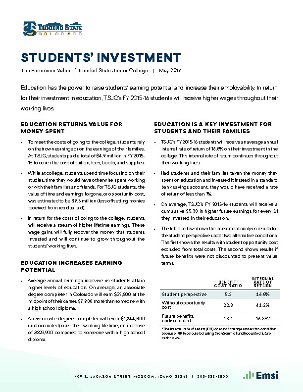 Students' Investment (TSJC) PDF