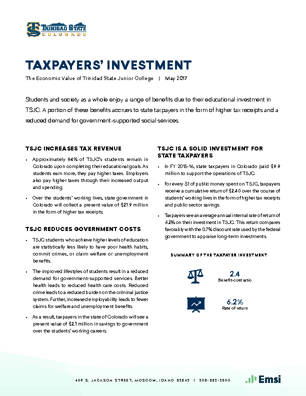 Taxpayers' Investment (TSJC) PDF