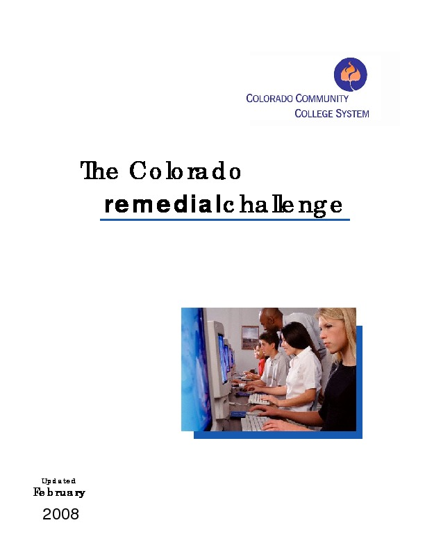 2008 The Colorado Remedial Challenge PDF