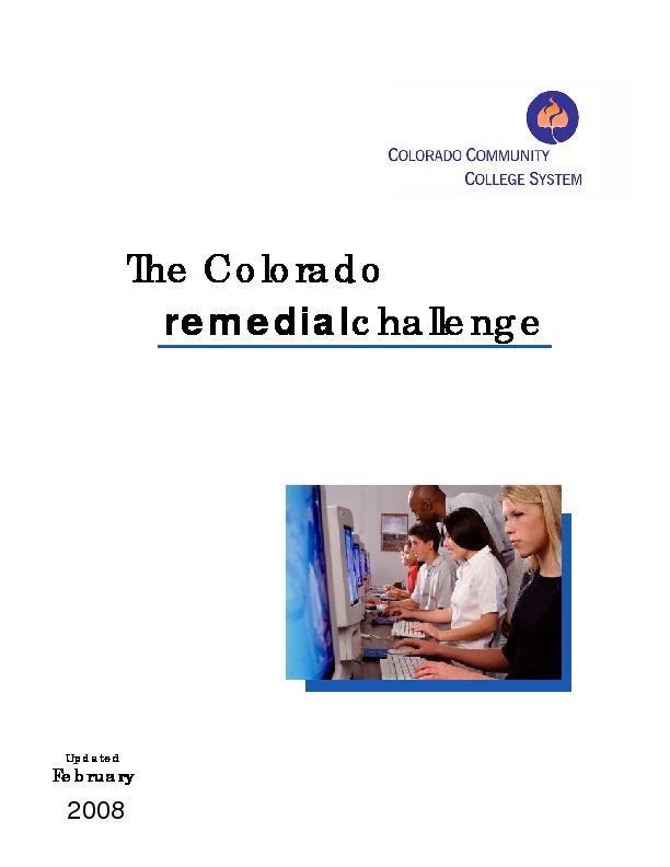 2008 The Colorado Remedial Challenge PDF