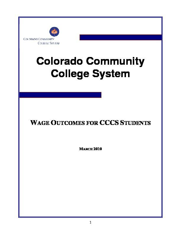 2010 Wage Outcomes Report PDF