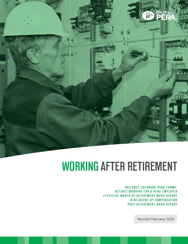 Working After PERA Retirement PDF