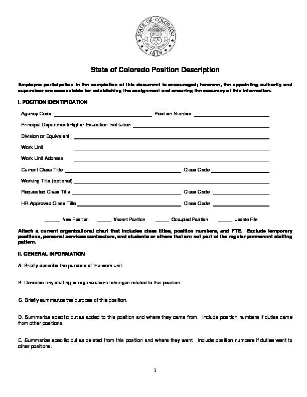 Position Description PDF